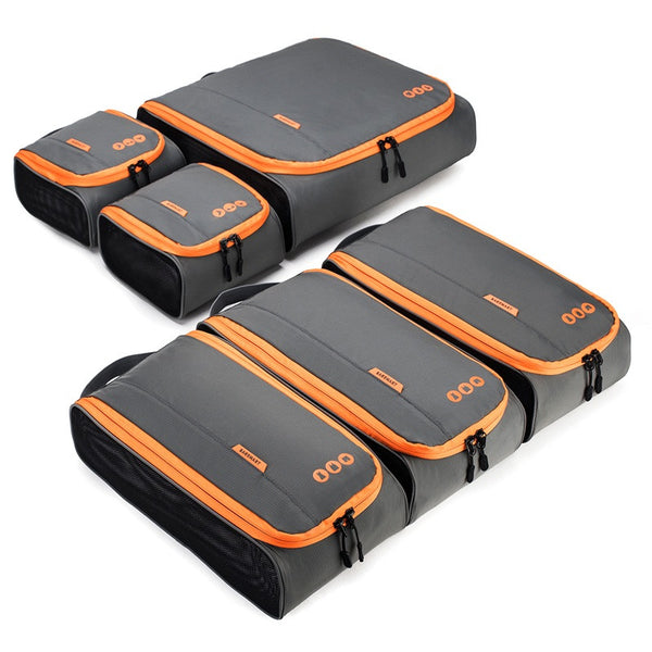"BAGSMART New Breathable Travel Accessories 6 Set Packing Cubes Luggage Packing Organizers Bag Fit 24"" Carry on Suitcase"