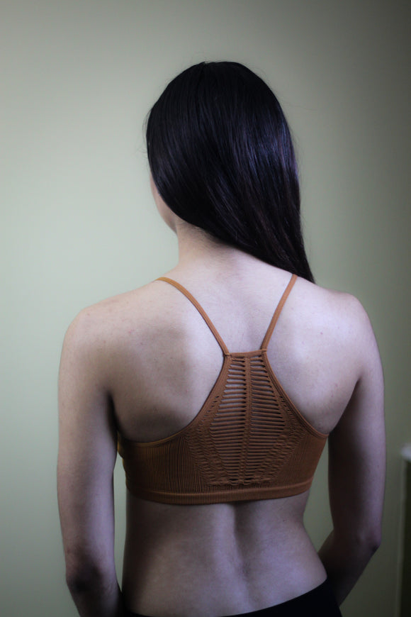 Seamless Slash Racerback Bralette