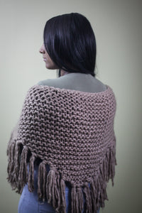 Oversized Knit Triangle Scarf