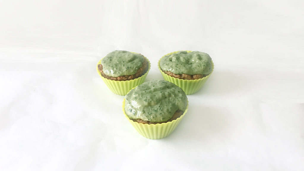 St Patty's Day Pupcakes - Dog Safe Cupcakes for St. Patrick's Day