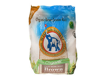 Super Lucky Elephant Organic Thai Brown Jasmine Rice 10lb