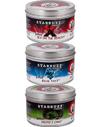 3 Packs Starbuzz Hookah Shisha Tobacco Flavors Best Sellers Value Pack 250g - Aradina Middle Easter and Mediterranean Foods