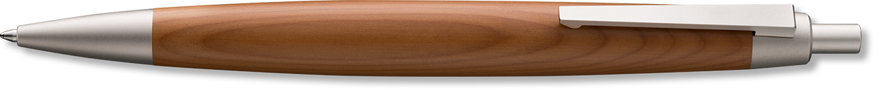 High Quality Yew Wood Ballpoint with Palladium Coated Trim