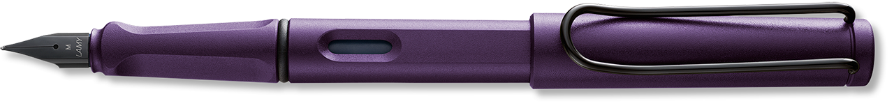 Limited Edition Safari Dark Lilac Matt Finished Resin Fountain Pen