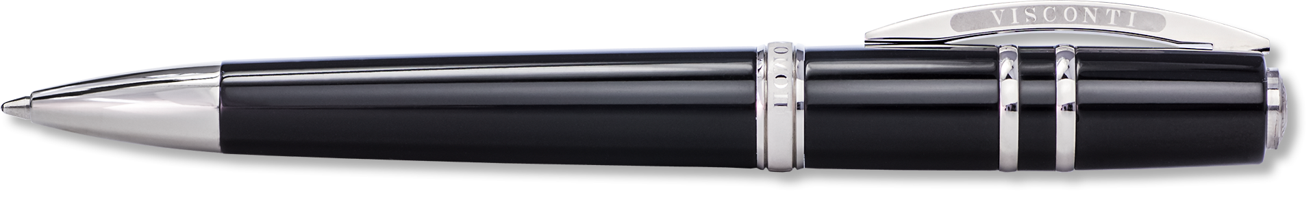 Visconti Elegance Black Polished Resin Ballpoint