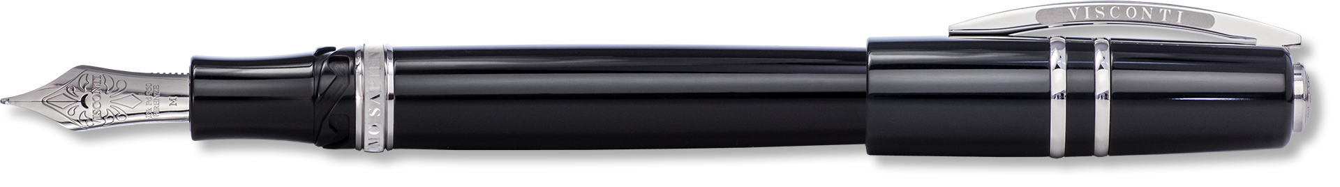 Visconti Elegance Black Polished Resin Fountain Pen