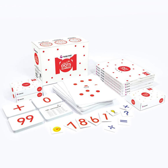 hungry brain fun with dots and numbers, addition flash cards, how to teach your baby math kit, Math Red Dot Flash Cards