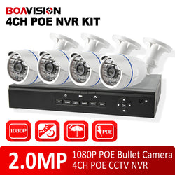 4 Channel 1080P NVR CCTV 2MP IP Camera System