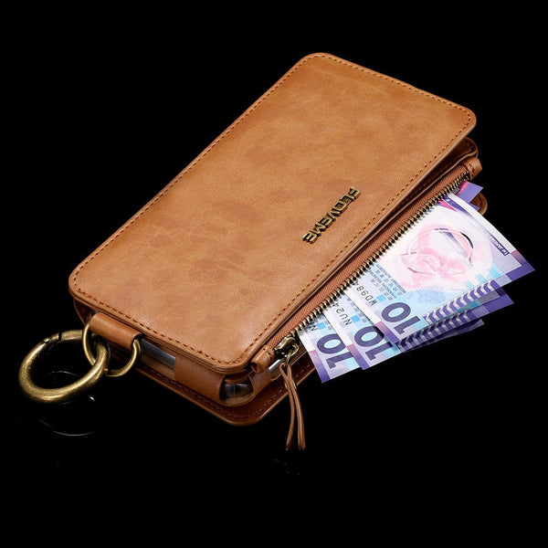 The Floveme Handmade Leather Wallet Case