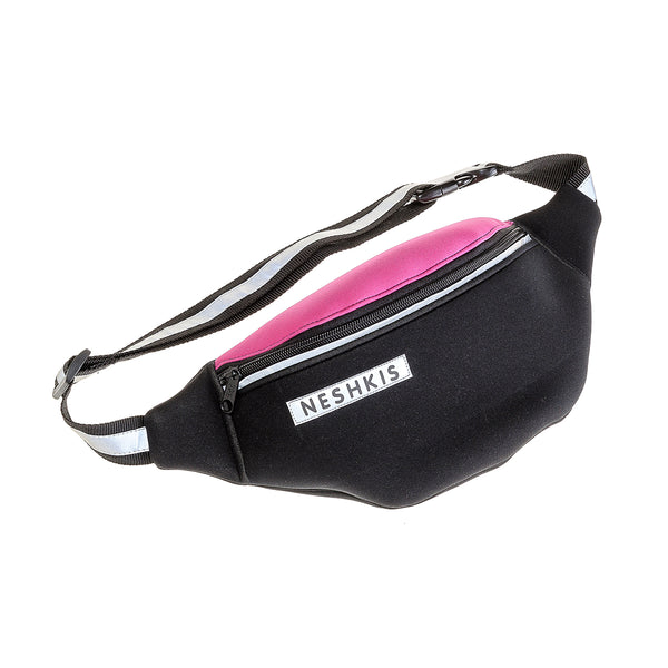 BLACK & CYCLAMEN belt bag - Neshkis
