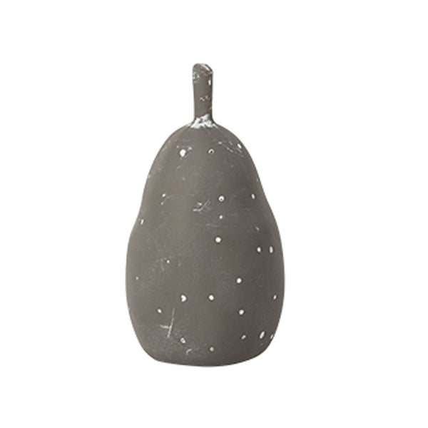 Anjou Pear Taupe- White Dots