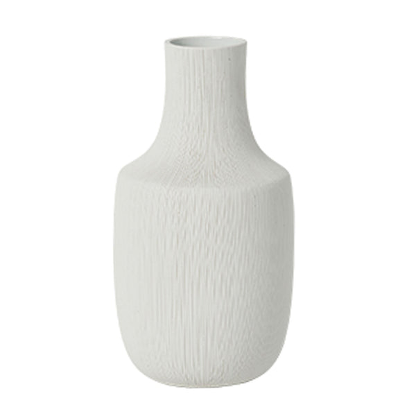 Bruno Ceramic Vase White- Tapered Large