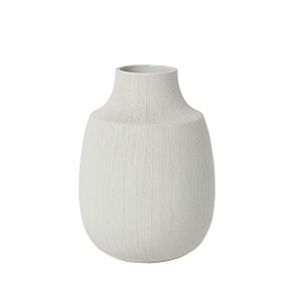 Bruno Ceramic Vase White- Tapered Medium