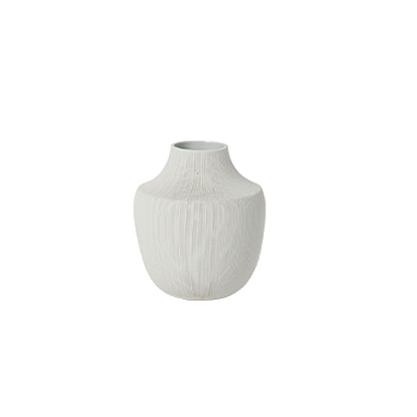 Bruno Ceramic Vase White- Tapered Small
