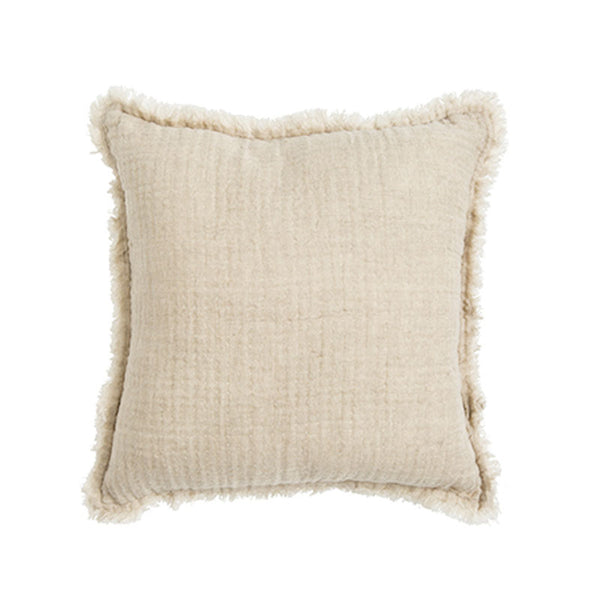 Carina Cotton Linen Cushion- Beige