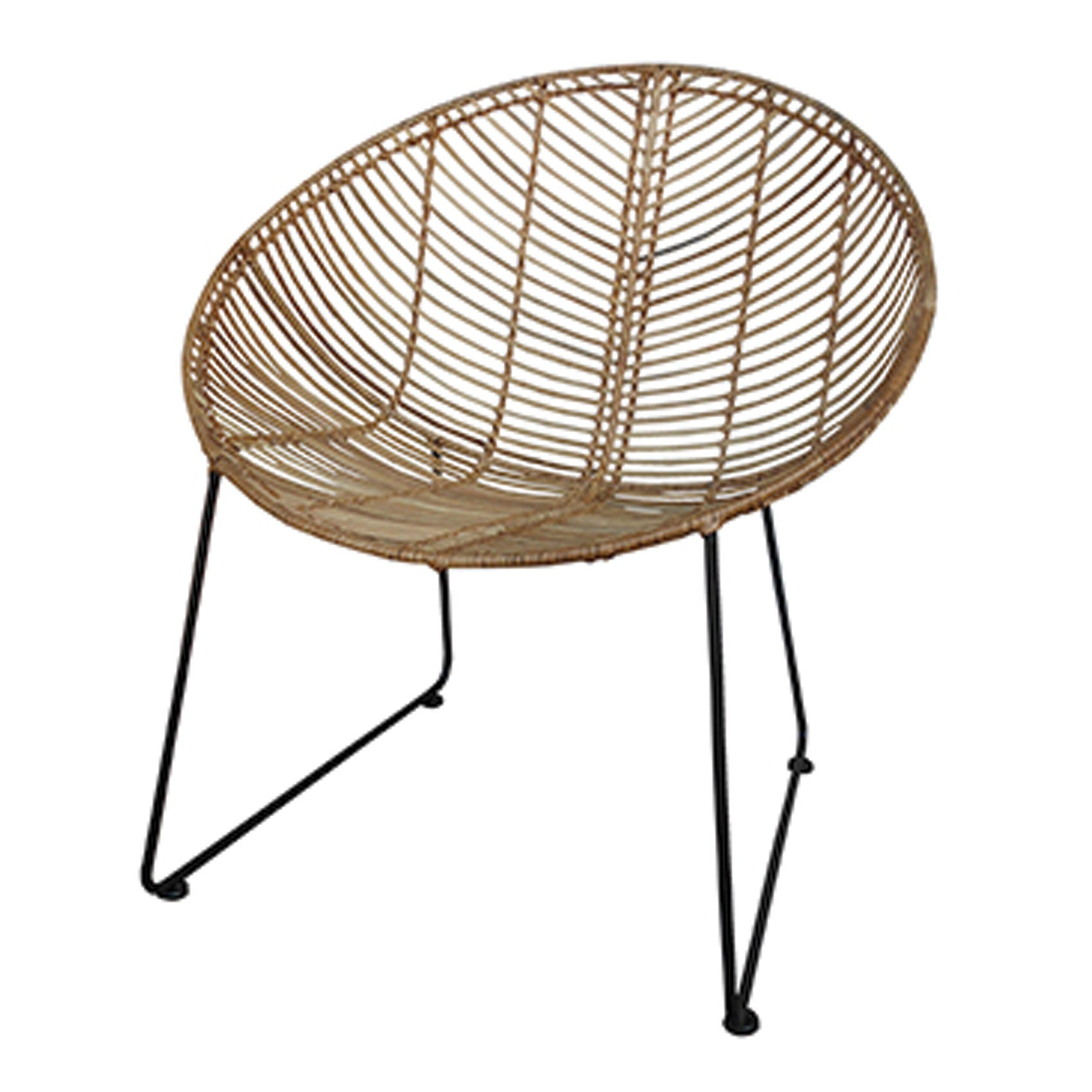 Parker Round Bucket Chair Natural – TheNorm