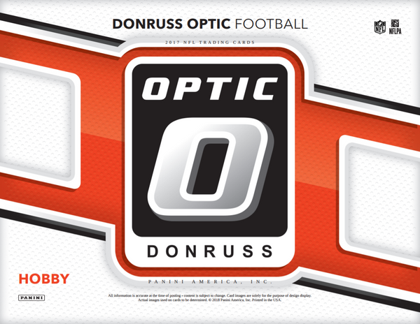 2017 Donruss Optic Football 12-Box Full Case Break #1