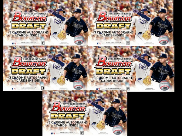 2017 Bowman Draft Jumbo *5-FULL CASES* 40-Box Break #1