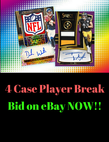 2017 Select Quad (4) FULL CASE PLAYER BREAK!!!! Click here to start bidding on eBay!! Ends on 2/24/18 @5:13 PM CST