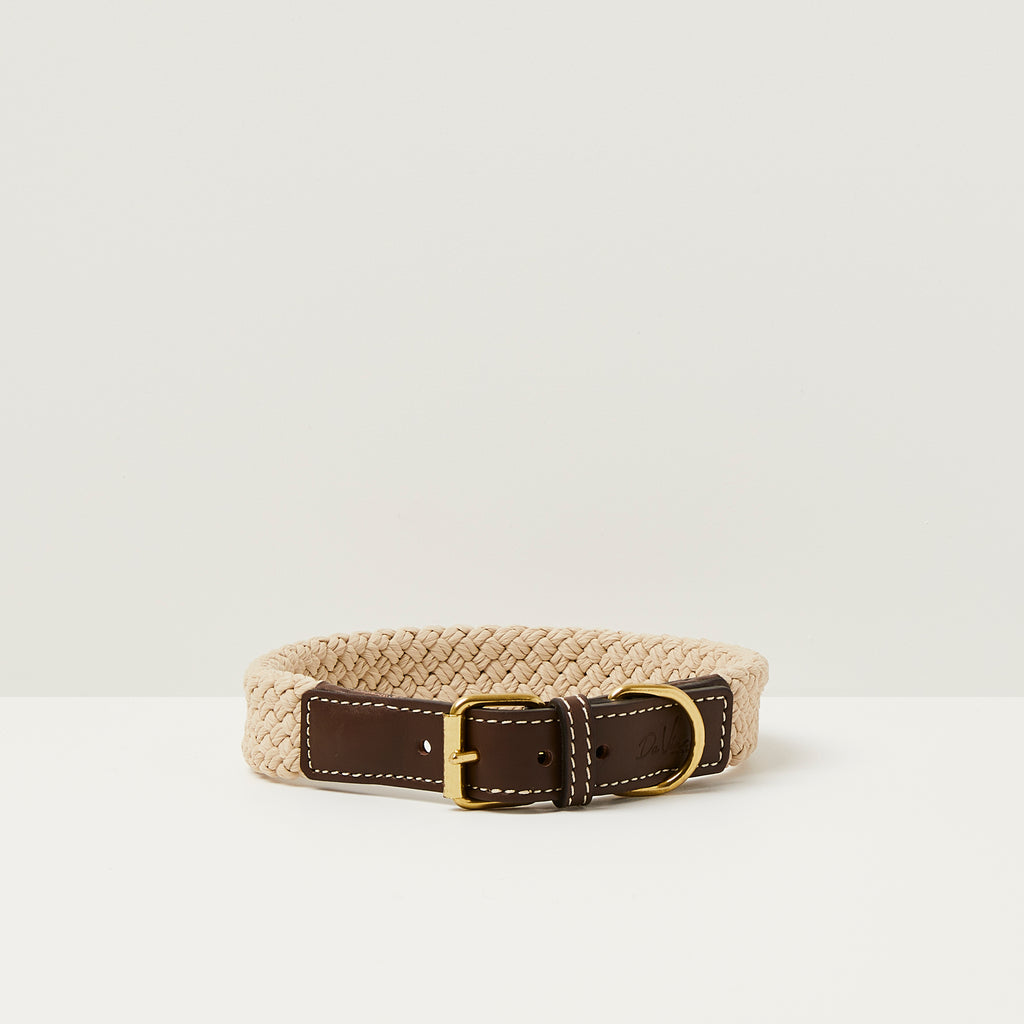 Da Vinci Giovanna Flat Rope Dog Collar
