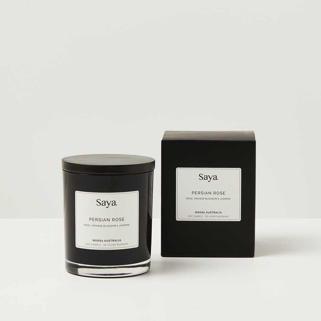 Saya Candle in Persian Rose