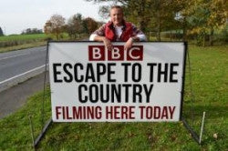 'Escape to the Country'? Making our 'BBC1' TV debut.....