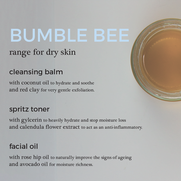 Bumble Bee Face Sample Kit for Dry Skin | 100% Natural Skincare