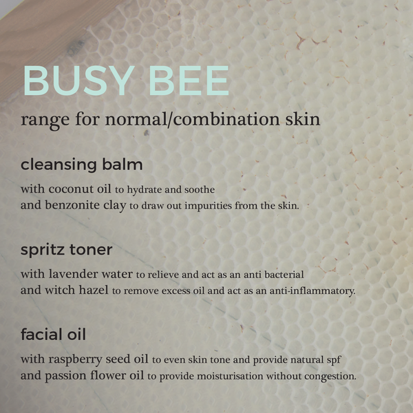 Busy Bee Face Sample Kit for Combination Skin | 100% Natural Skincare