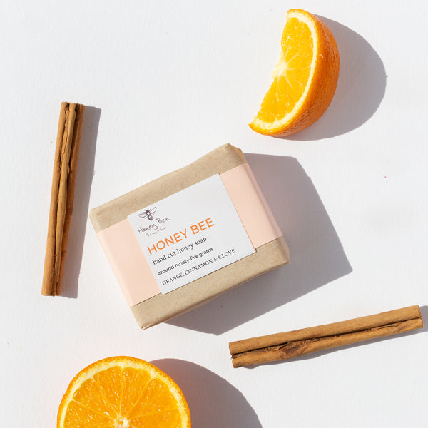 Orange, cinnamon & clove honet soap