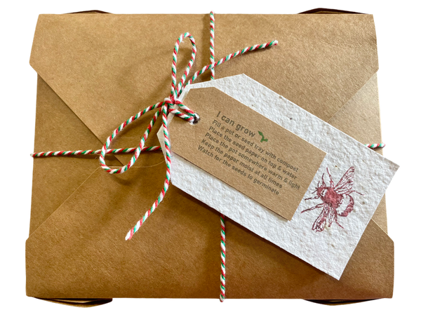 Plantable seeded gift tags