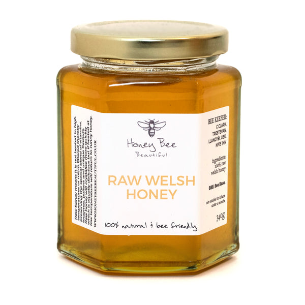 'Honey Bee' Raw Welsh Honey