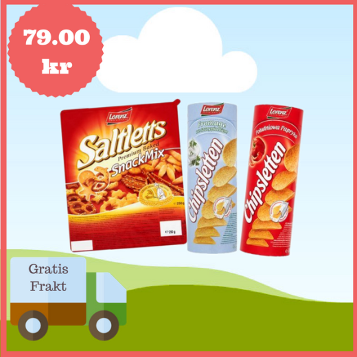 Salty Snacks Set, Gratis Frakt