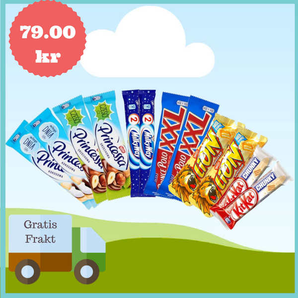12-Pakke med Wafers & Bars, Gratis Frakt