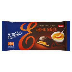 Wedel Dark Chocolate Filled With Creme Brulee 100g
