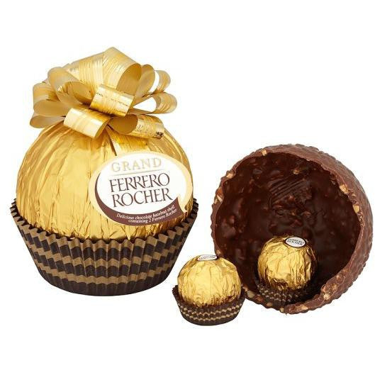 Ferrero Rocher Grand figure of milk chocolate with crushed hazelnuts 125 g