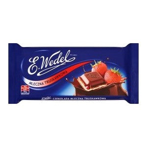 Wedel Milk Chocolate & Strawberry 100g