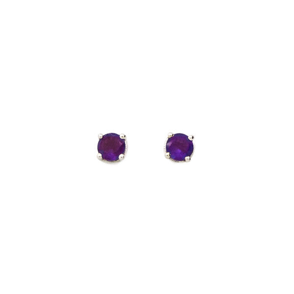 yellow gold earrings bicego jaipur stud jaipuramethyststudearrings color products amethyst y grande petite marco