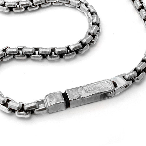 Bracelets and bangles for men with a wicked sense of taste and annika rutlin heavy mens silver chain bracelet unusual textured bar catch from 39500 aloadofball Gallery