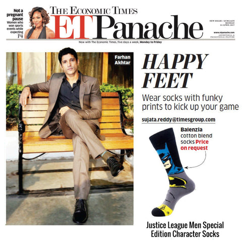 Justice League Men Special Edition Charecter Socks Featured in Economic Times