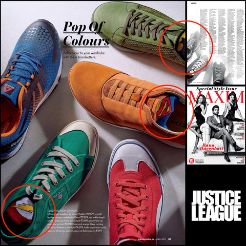 Justice League Men's Collection Featured in Maxim April Issue
