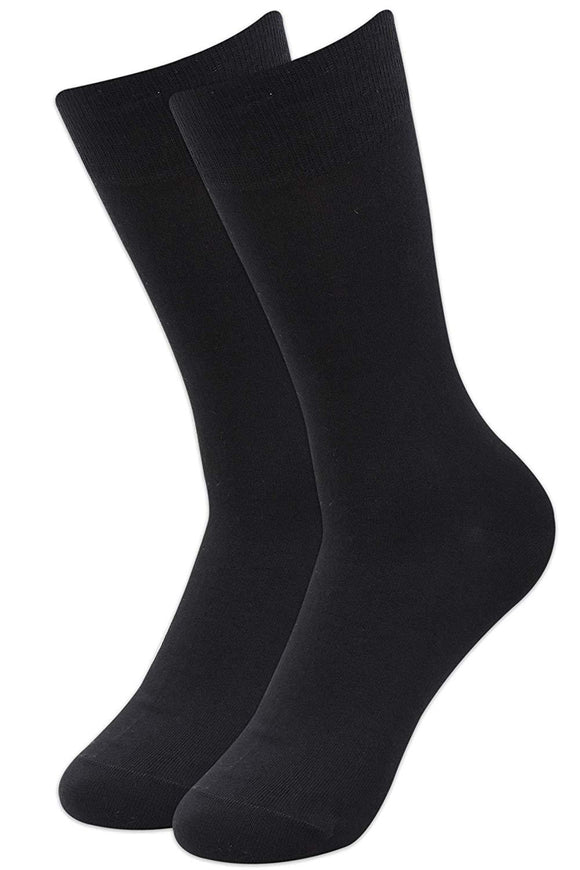 Balenzia Men's Fine Business Cotton Socks (Black) - Balenzia
