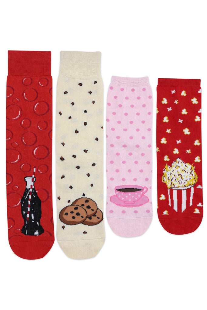 Him & Her Socks Boxset Special Edition - Cookie, Tea Cup,Cola Bottle & Popcorn - Balenzia