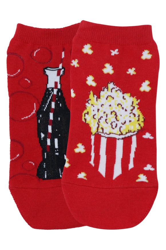 Balenzia Special Edition Lowcut socks for women - Cola Bottle & Popcorn - Balenzia