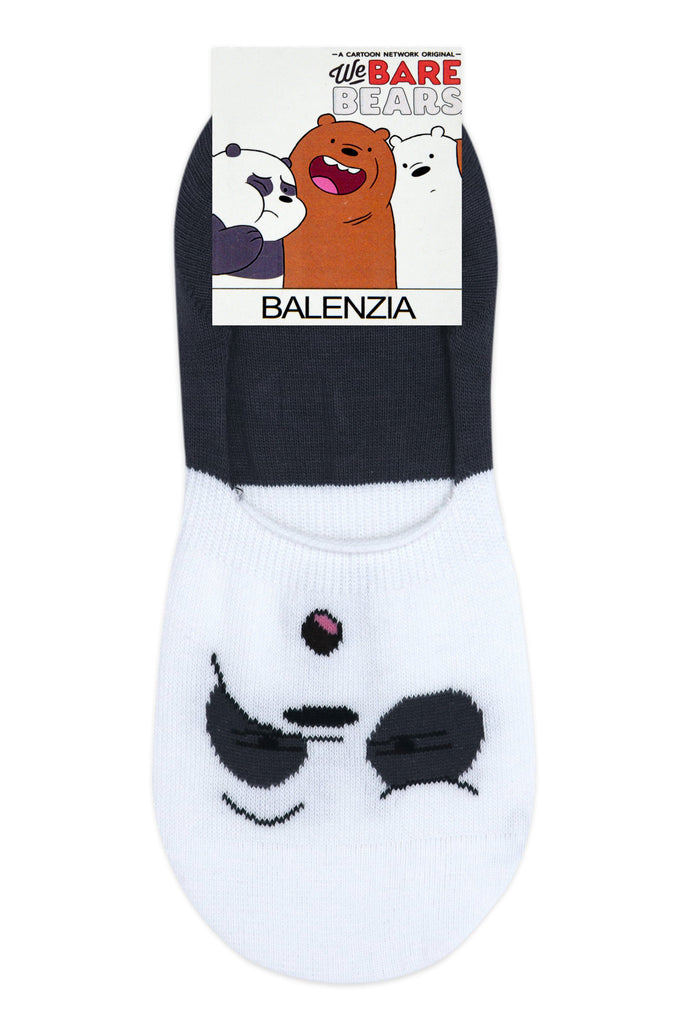 We Bare Bears By Balenzia Loafer Socks For Women with Anti Slip Silicon (Pack Of 3)-Multicolor-No Show / Invisible Socks - Balenzia