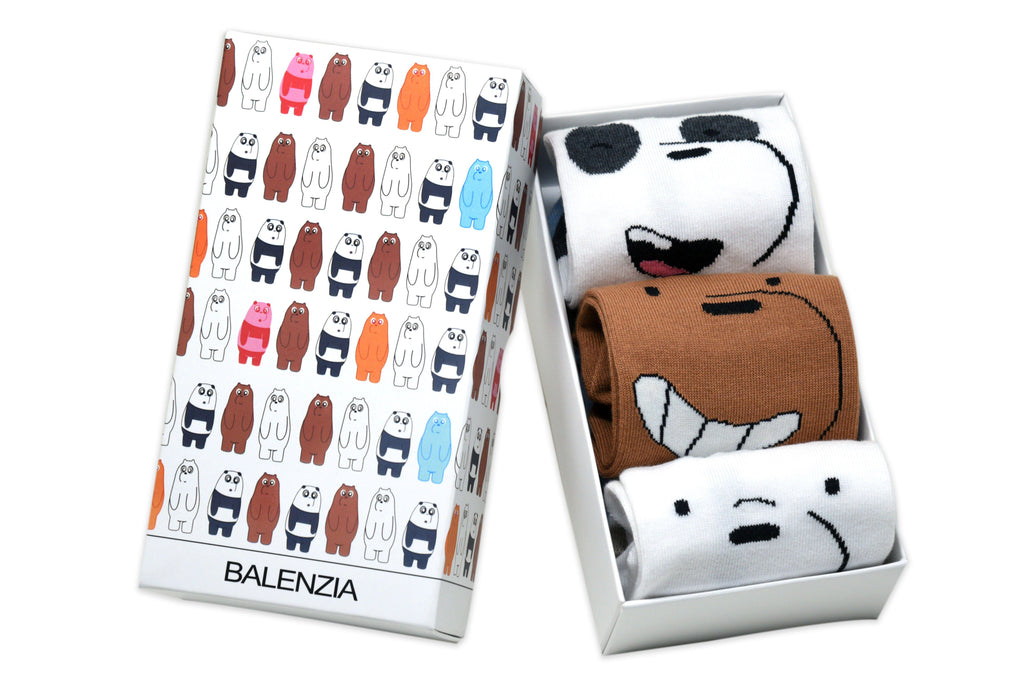 We Bare Bears By Balenzia Low Cut Socks for Women (Pack of 3) - Balenzia