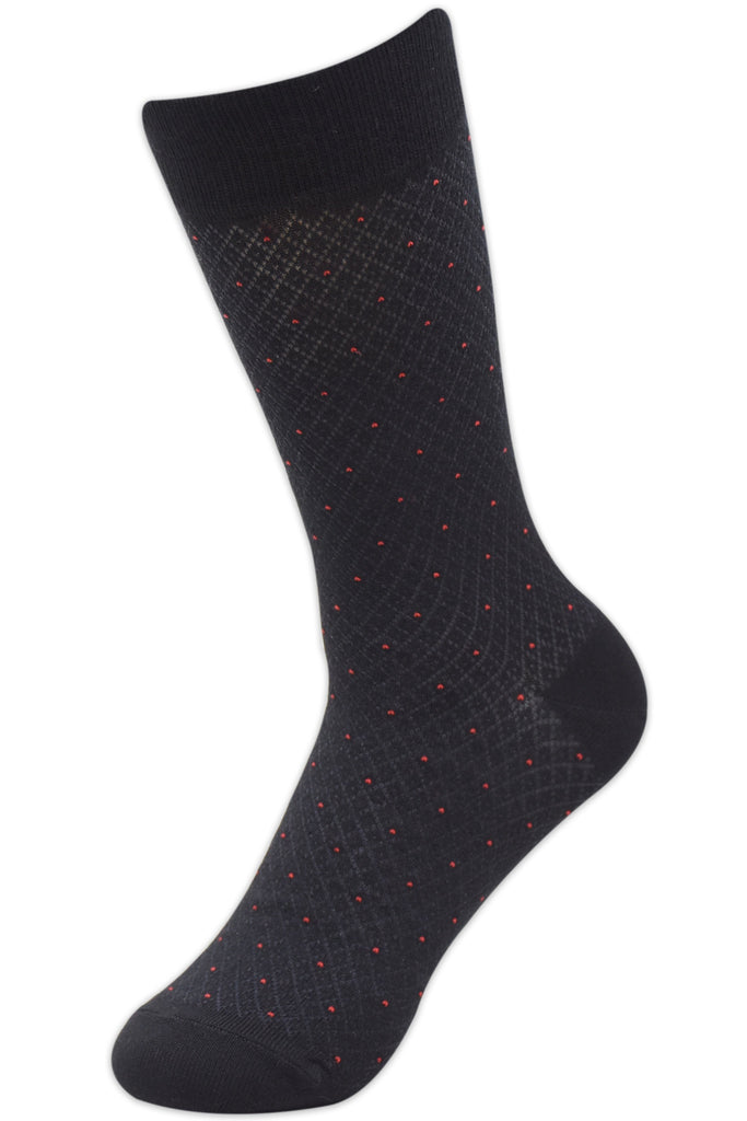 Balenzia Men's Small Polka Modal Crew length Socks (Pack of 4) - Balenzia