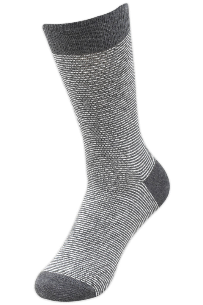 Balenzia Men's Striped Crew Socks-3 Pair Pack - Balenzia