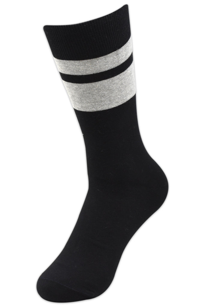 Balenzia Men's Formal Cotton Crew Socks-3 Pair Pack - Balenzia