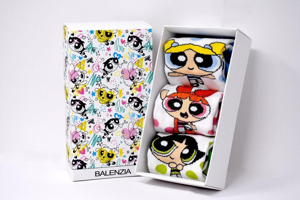 Powerpuff Girls Gift Pack for Kids -Lowcut Socks - Balenzia