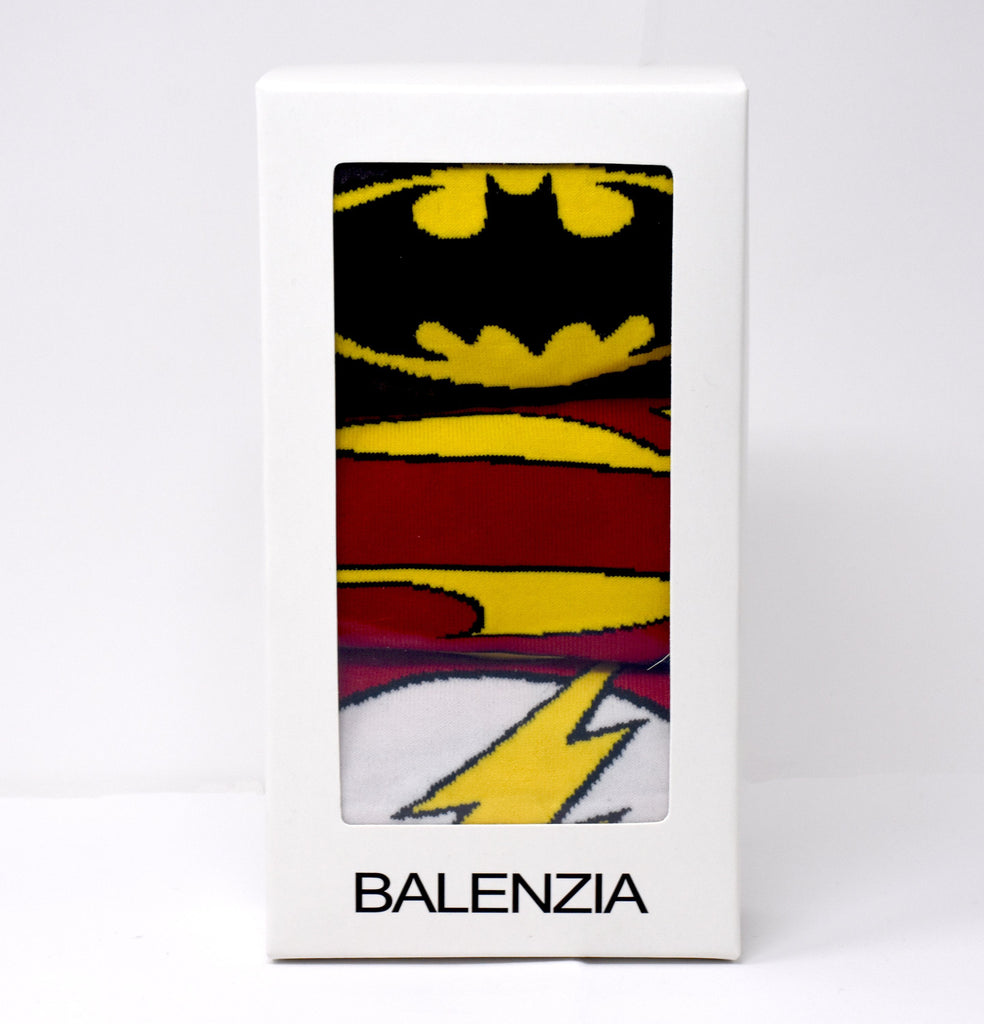 Justice League By Balenzia Low Cut Socks for Kids (Pack of 3)(9-12 Years) - Balenzia